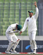 Adnan Akmal was struck on the mouth