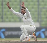 Mahmudullah makes a loud appeal for lbw