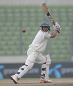 Nasir Hossain steers the ball behind point