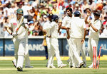 Michael Clarke was bowled by Ishant Sharma for just one