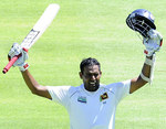 Thilan Samaraweera made his second century in two Tests