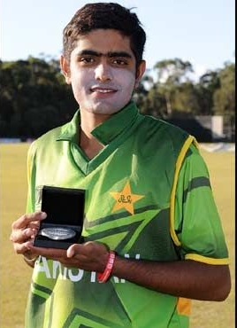 Babar Azam with the Man of the Match Award
