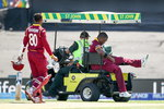 Darren Bravo was unable to play after he got hit from some throws by the Pakistan fielders