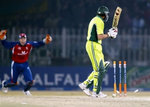 Shahid Afridi is bowled out